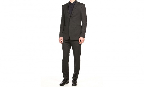 Lad Musician Super 130s Gabardine Charcoal Nano Suit Lad Musician Super 130s Gabardine Charcoal Nano Suit