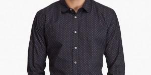 Paul Smith Black Print Woven Shirt