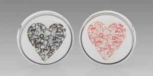 Paul Smith Heart Print Cufflinks