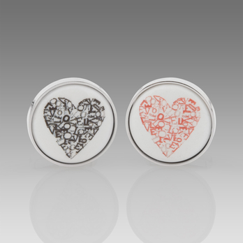 Paul Smith Heart Print Cufflinks Paul Smith Heart Print Cufflinks