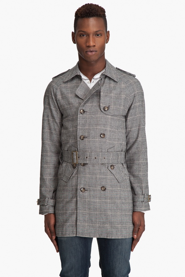 Shades of Grey Trench Coat Shades of Grey Plaid Trench Coat