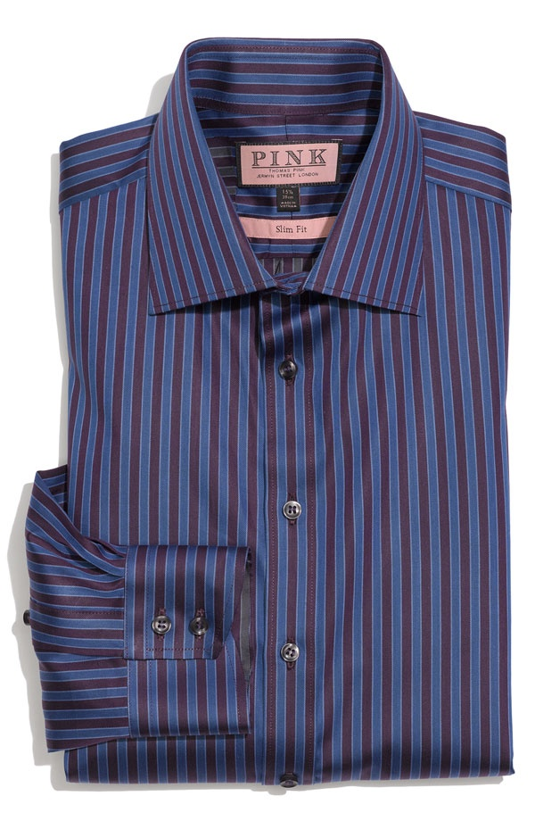 Thomas Pink Mass Trim Fit Dress Shirt Thomas Pink Mass Trim Fit Dress Shirt