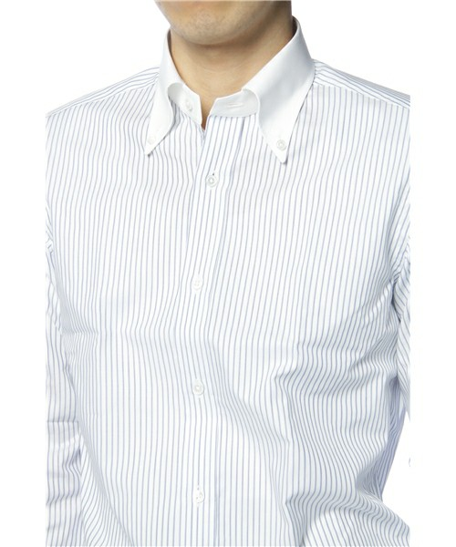 United arrows men contrast collar button down shirt suitored for 3 button shirt collar