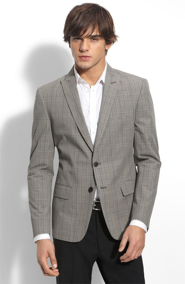 Varvatos Star USA red label Dwell Grey Plaid Cotton Blazer Varvatos Star USA red label Dwell Blazer