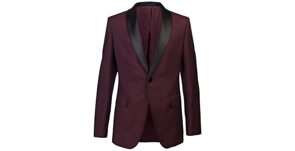 Alexander McQueen Burgundy Dinner Jacket 1 Alexander McQueen Burgundy Dinner Jacket