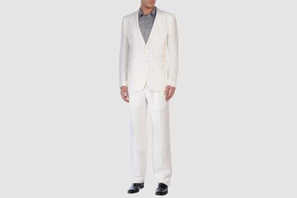 Armani Collezioni White Linen Suit Armani Collezioni White Linen Suit