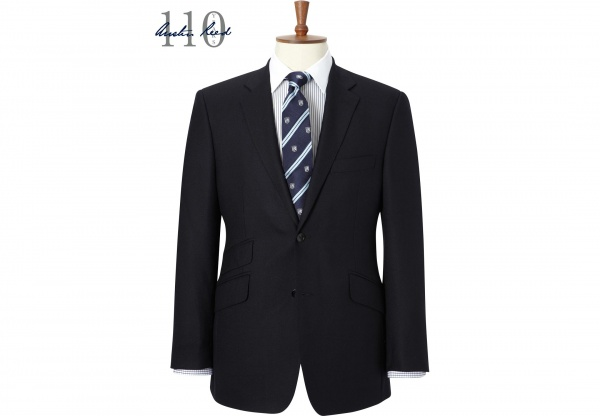 Austin Reed 110th Anniversary Navy Textured Suit 1 Austin Reed 110th Anniversary Navy Textured Suit