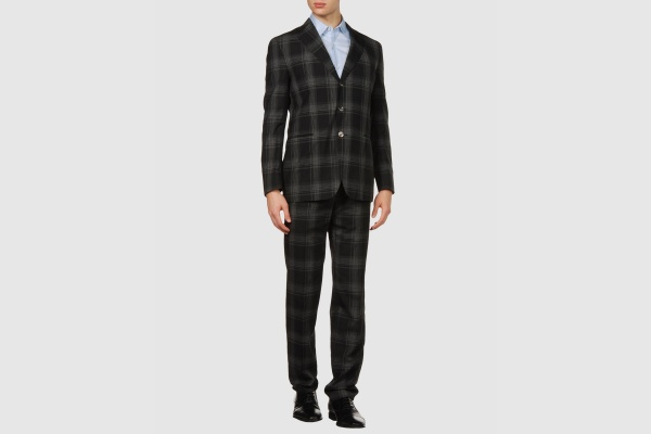 Boglioli Grey Plaid Suit Boglioli Grey Plaid Suit