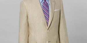 Brooks Brothers Irish Linen Plaid Regent Fit Suit