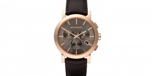 Burberry Large Taupe Dial Chronograph Watch