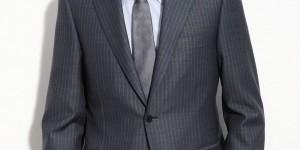 Canali Blue Stripe Wool Suit