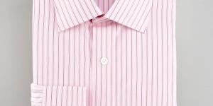 Charvet Striped Pink Dress Shirt