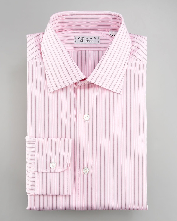 Charvet Striped Pink Dress Shirt | Suitored
