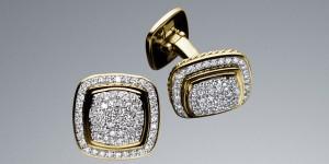David Yurman Diamond Pave Cufflinks