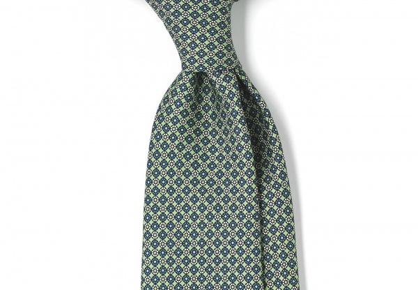 Drakes of London 36oz Printed Foulard 8cm Silk Tie 1 Drakes of London 36oz Printed Foulard 8cm Silk Tie