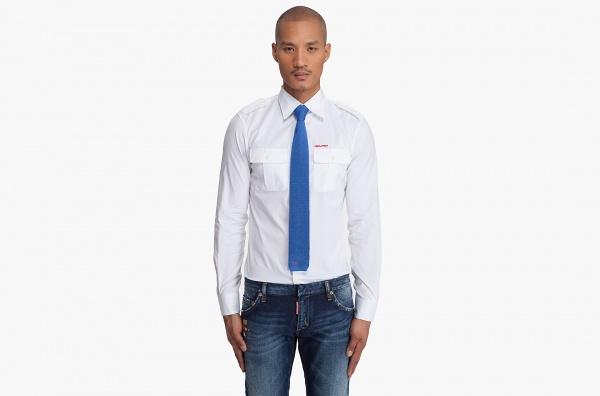 Dsquared2 Blue Knit Silk Tie Dsquared2 Blue Knit Silk Tie