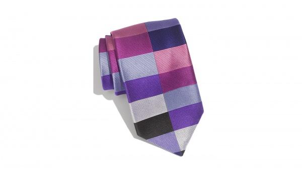 Duchamp Split Harlequin Woven Silk Tie Duchamp 'Split Harlequin' Woven Silk Tie