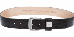 Emporio Armani Crocodile Embossed Belt