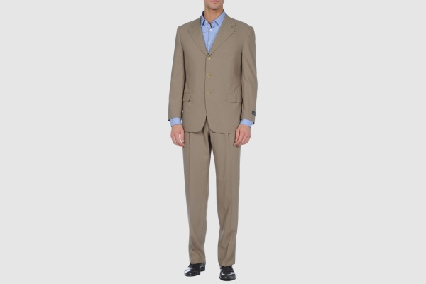 Ermenegildo Zegna Khaki Three Button Suit Ermenegildo Zegna Khaki Three Button Suit