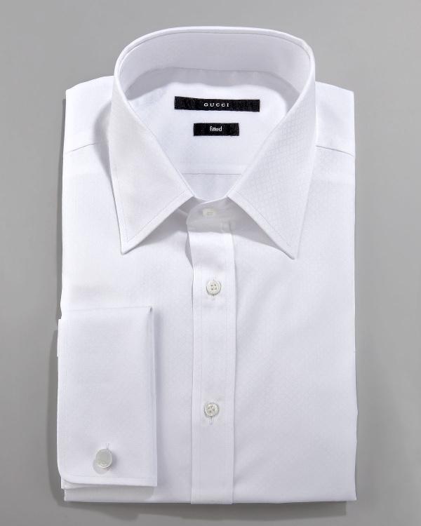 Gucci Solid French Cuff Dress Shirt Gucci Solid French Cuff Dress Shirt