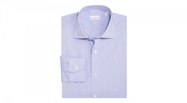 Guy Rover Solid Blue Dress Shirt Guy Rover Solid Blue Dress Shirt