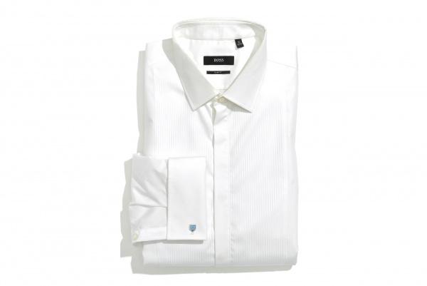 HUGO Jasan Trim Fit Tuxedo Shirt HUGO Jasan Trim Fit Tuxedo Shirt