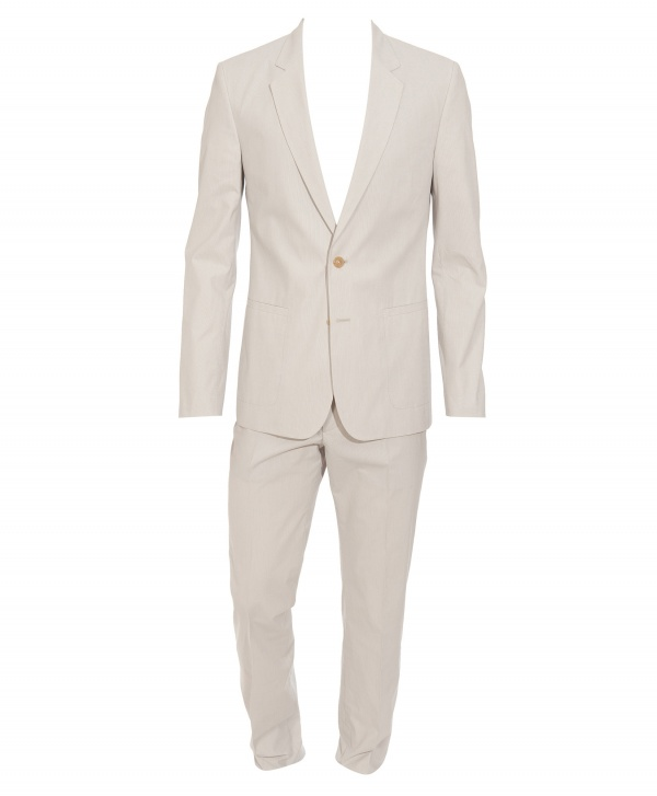 Ivory Pinstriped Suit by Maison Martin Margiela 1 Ivory Pinstriped Suit by Maison Martin Margiela