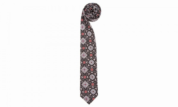 Opening Ceremony Black Medallion Necktie Opening Ceremony Black Custom Medallion Necktie