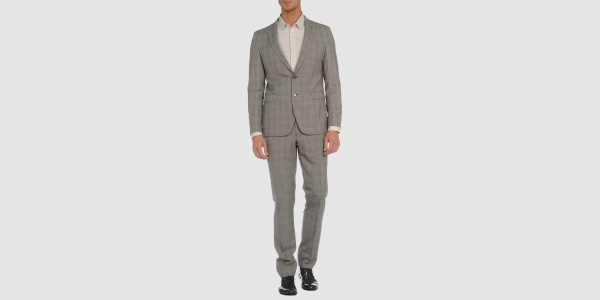 Paoloni Two Button Plaid Suit Paoloni Two Button Plaid Suit