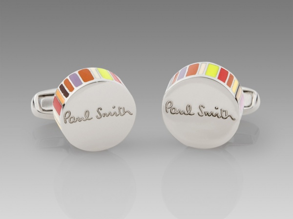 Paul Smith Multi Stripe Edge Cufflinks Paul Smith Multi Stripe Edge Cufflinks