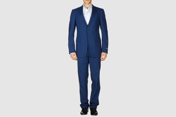 Raf Simons Two Button Blue Suit Raf Simons Two Button Blue Suit