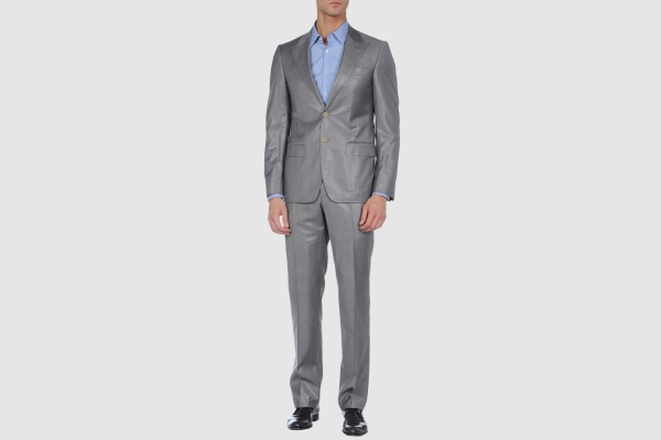 Versace Grey Two Button Wool Suit Versace Grey Two Button Wool Suit