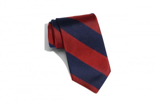 1901 Red Blue Woven Silk Tie 1901 Red & Blue Woven Silk Tie