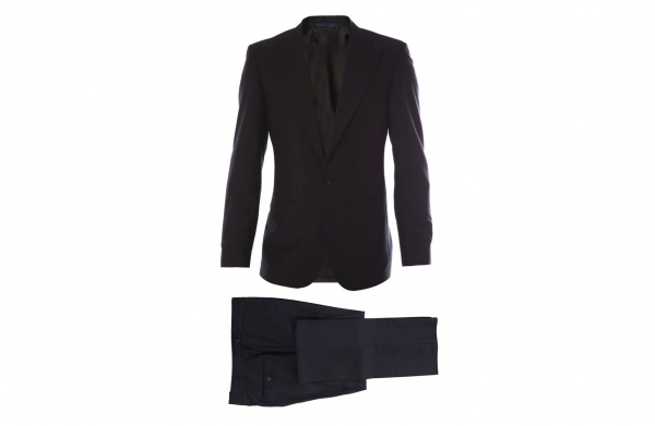 A. Sauvage Navy Mohair Suit 1 A. Sauvage Navy Mohair Suit