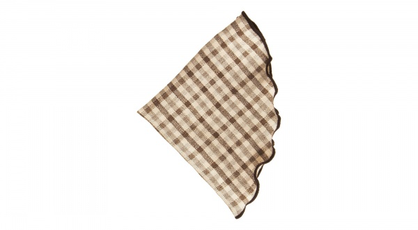 Alexander Olch Plaid Round Handkerchief Alexander Olch Plaid Round Handkerchief
