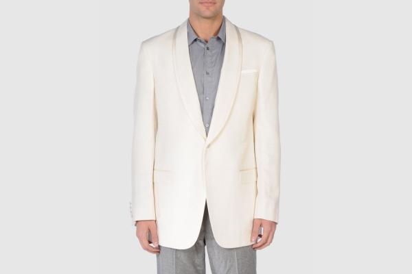 Armani Collezioni White Silk Dinner Jacket Armani Collezioni White Silk Dinner Jacket