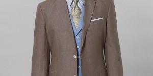 Brooks Brothers Irish Linen Regent Fit Suit in Tan