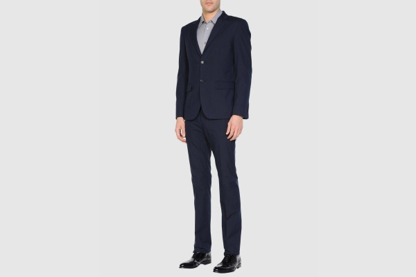 Calvin Klein Collection Navy Cotton Suit Calvin Klein Collection Navy Cotton Suit