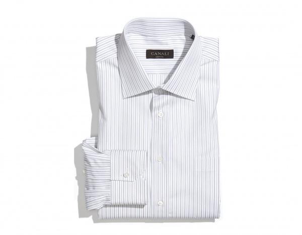 Canali Beige Stripe Regular Fit Dress Shirt Canali Beige Stripe Regular Fit Dress Shirt