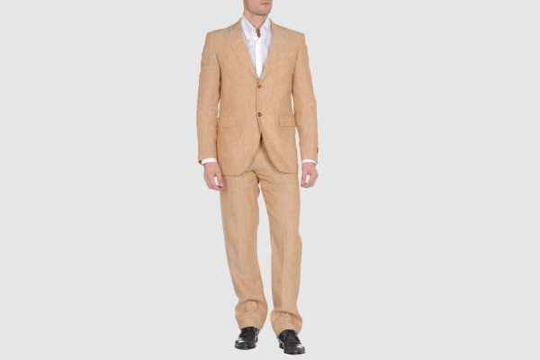 Caramelo Mens Linen Suit in Sand Caramelo Men's Linen Suit in Sand