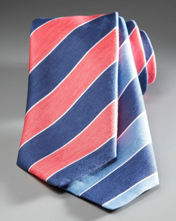 Charvet Rep Stripe Tie Charvet Rep Stripe Tie