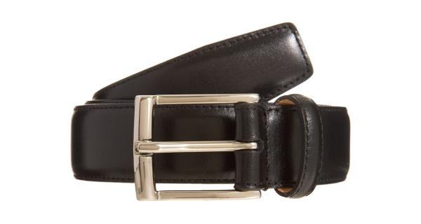 Crockett Jones Black Leather Dress Belt Crockett & Jones Black Leather Dress Belt