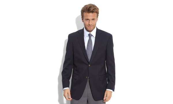 Hart Schaffner Marx Capital Collection Navy Wool Blazer Hart Schaffner Marx Capital Collection Navy Wool Blazer