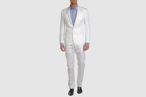 Just Cavalli White Cotton Blend Suit Just Cavalli White Cotton Blend Suit
