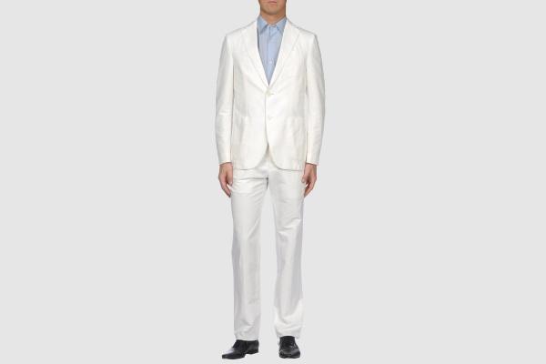 Lardini Cotton Linen White Suit Lardini Cotton Linen White Suit
