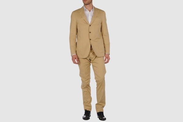 Maco Beige Cotton Suit Maco Beige Cotton Suit