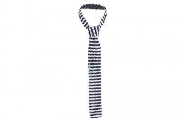 Navy White Striped Knit Tie by Sefton Navy & White Striped Knit Tie by Sefton