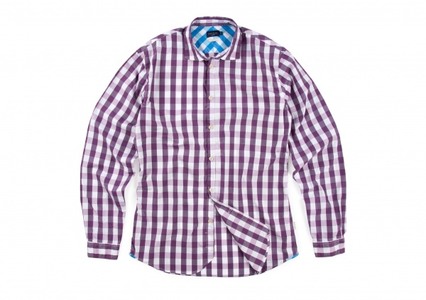 Paul Smith Purple Gingham Slim Fit Shirt 1 Paul Smith Purple Gingham Slim Fit Shirt