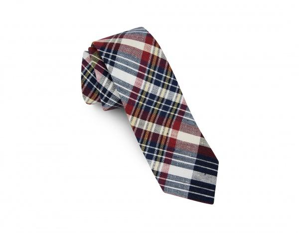 Public Opinion Burgundy Linen Tie Public Opinion Burgundy Linen Tie