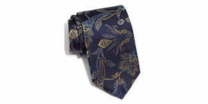 Robert Talbott Dark Blue Paisley Silk Tie